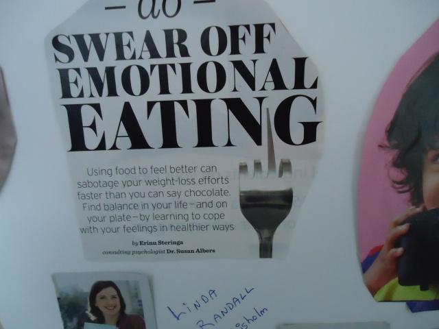 swear off emotional eating vision board goals 2014 linda randall