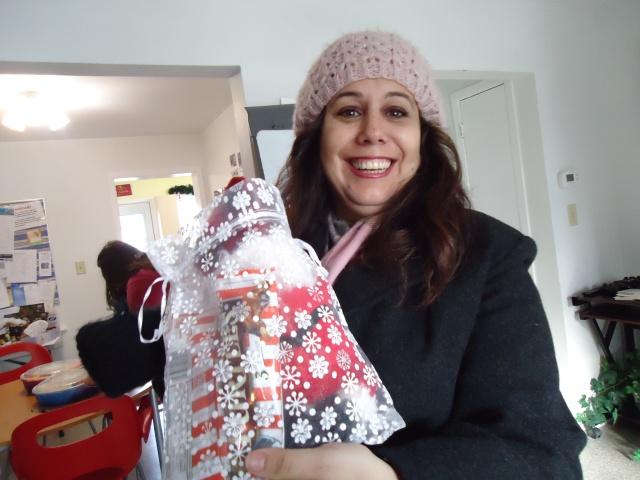 Teresa christmas gift surprise for linda randall community house christmas party 23 dec 2013