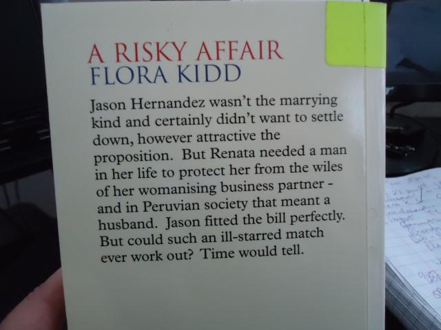 A Risky Affair Flora Kidd Book Cover