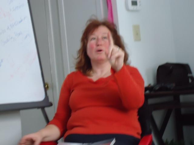 deb just one moment finger point (joke) linda randall