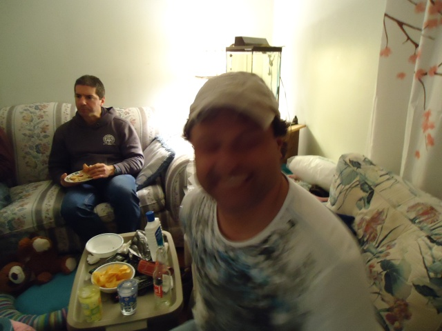 harry laughs blur moves paul superbowl party seahawks win 2 feb 2014 linda randall
