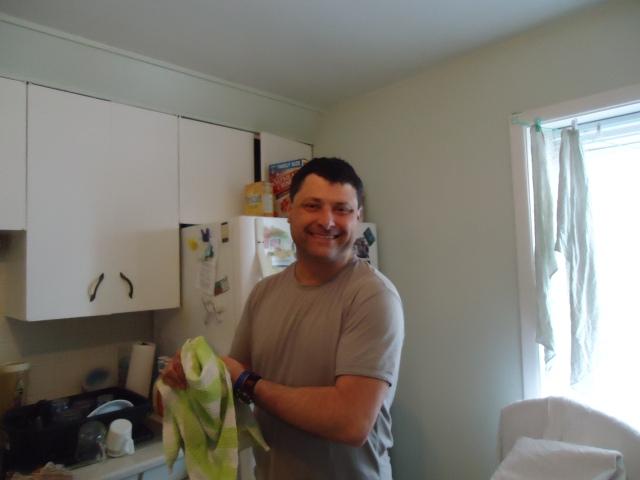 harry washing dishes linda randall