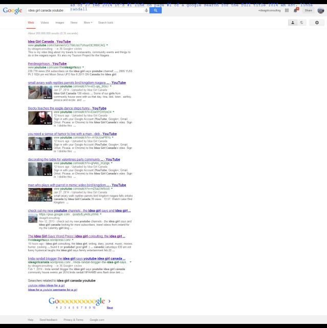 idea girl canada youtube - Google Search