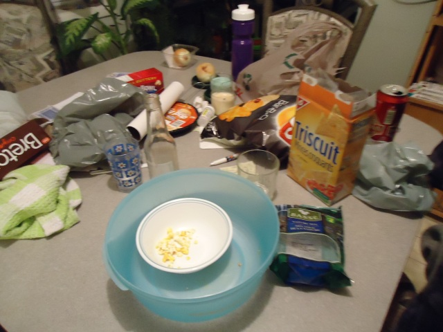 kitchen table snacks superbowl party seahawks win 2 feb 2014 linda randall
