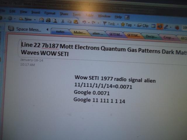 Line 22 7b187 Mott Electrons Quantum Gas Patterns Dark Matter Waves WOW SETI linda randall the idea girl says youtube