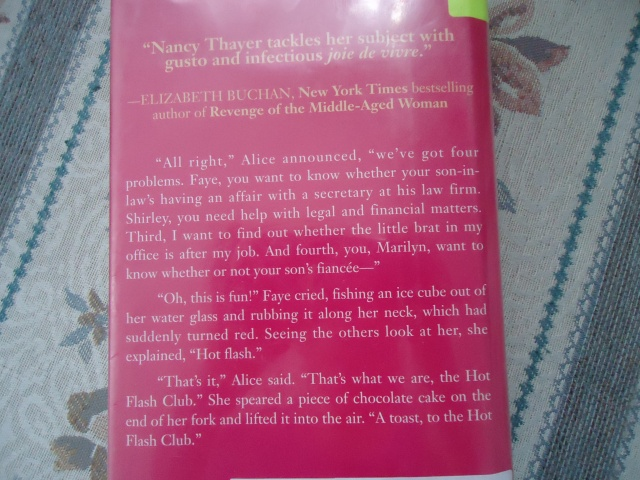 nancy thayer's the hot flash club book cover and elizabeth becan new york times best selling author  pic linda randall