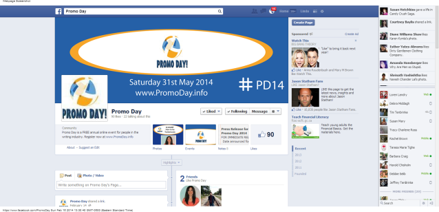 Promo Day  Facebook Event #PD14 Sat 31 May 2014 linda randall Jo Linsdell blogging marketing the idea girl says feb 2014