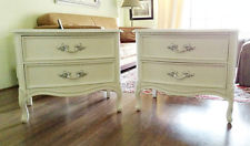 white silver vintage french provincial dixie nightstands end tables