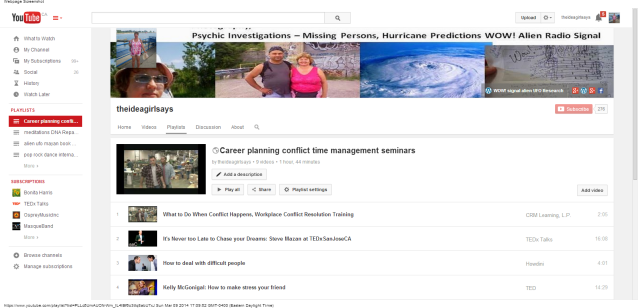 Career Planning Conflict Time Management Seminars theideagirlsays - YouTube Playlist linda randall idea girl canada