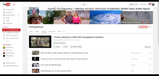 Career Planning Conflict Time Management Seminars theideagirlsays - YouTube Playlist linda randall idea girl canada