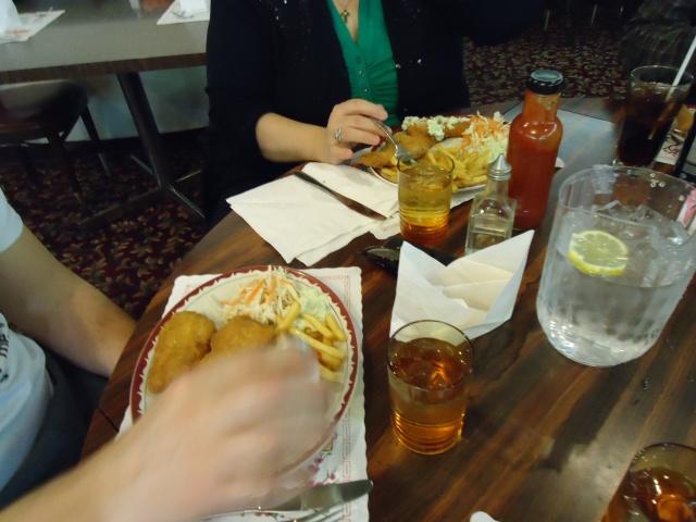 fish n chips coleslaw happy jacks restaurant niagara blvd fort erie dan n linda dinner linda randall idea girl canada