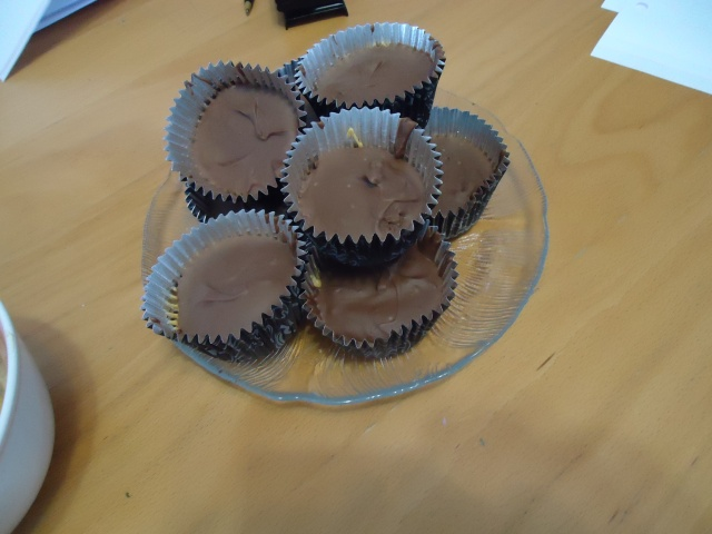 frozen tin foil peanut butter chocolate cups snack we made community house fe 27 feb 2014 linda randall
