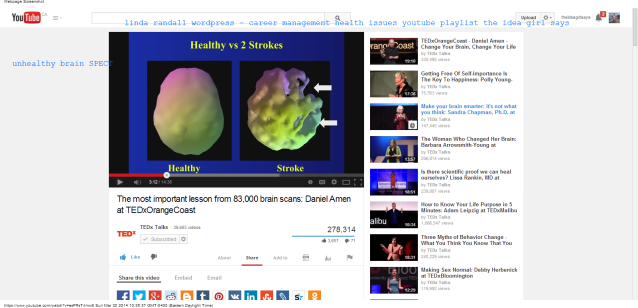healthy vs 2 strokes Healthy Brain SPECT Scan The most important lesson from 83,000 brain scans  Daniel Amen at TEDxOrangeCoast - YouTube (1) linda randall