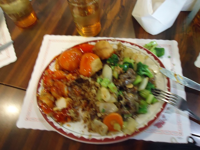 mushroom fried rice chicken balls sweet sour sauce beef n vegetables happy jacks chinese food linda randall favorite dish fort erie on canada