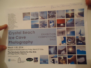 poster-crystal-beach-ice-cave-photography-bonita-bonnie-harris-exhibition-competition-sale-mar-1-to-30-2014-linda-randall-idea-girl-canada