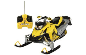 RC-Ski-Doo1230 Available from Interactive Toy for under US$90.00, this radio-controlled scale model Ski-Doo zip over snow, turf or carpet. fort erie tourism project  idea girl canada