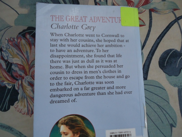 the Great Adventure book cover Charlotte Grey - linda randall wordpress