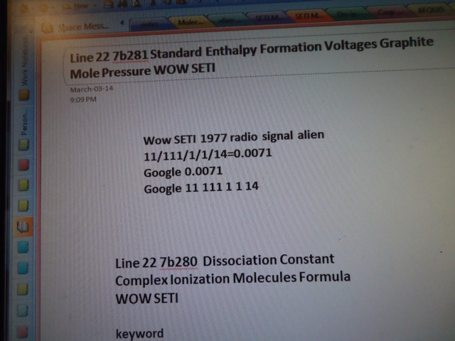 Line 22 7b281 Standard Enthalpy Formation voltages Graphite Mole Pressure WOW SETI mar 2014 linda randall
