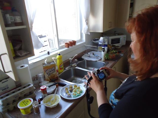 deb taking pics of her deviled eggs linda randall