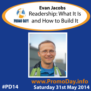 #PD14 presenter banner Evan Jacobs Readership What it is and how to build it promo day event 31 may 2014