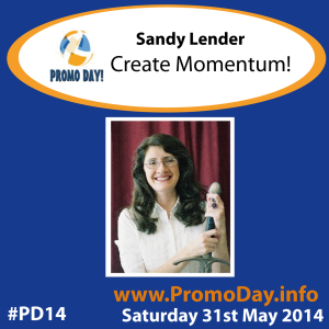 #PD14 presenter banner Sandy Lender- Create Momentum promo day event 31 may 2014