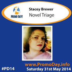 #PD14 presenter banner Stacey Brewer Novel Triage - #PromoDayEvent 31 may 2014