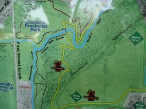 bruce trail map decew falls thorold ontario canada merrittville hwy beaverdams rd