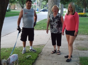 harold chisholm daisy judy tracy ross going for a walk in st thomas ontario canada