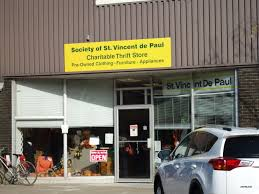 Society of St Vincent de Paul Thrift Store Shop Used Furniture Clothing Appliances Electronics Toys Household Footwear idea girl canada