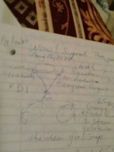 diagram 1 WOW! Alien Radio Signal shows how to build a UFO CORE Crystal LIFT Engine