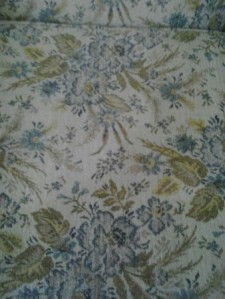 close up photo cream blue green floral print antique couch linda randall  idea girl canada
