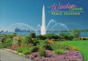 peace-fountain lights waterworks windsor ontario canada - detroit river the charlie brooks memorial in coventry gardens - idea girl canada linda randall