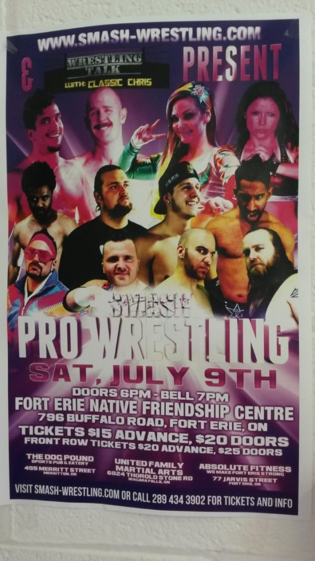 SMASH Pro Wrestling July 9 2016 FE Native Friendship Centre JAXON JARVIS - the dog pound Merriton, United Family Martial arts NF, Absolute Fitness FE tickets