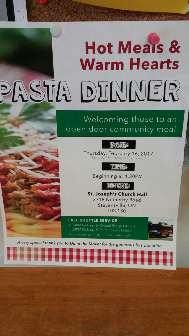 community-supper-st-josephs-netherby-rd-stevensville-third-thursday-of-the-month