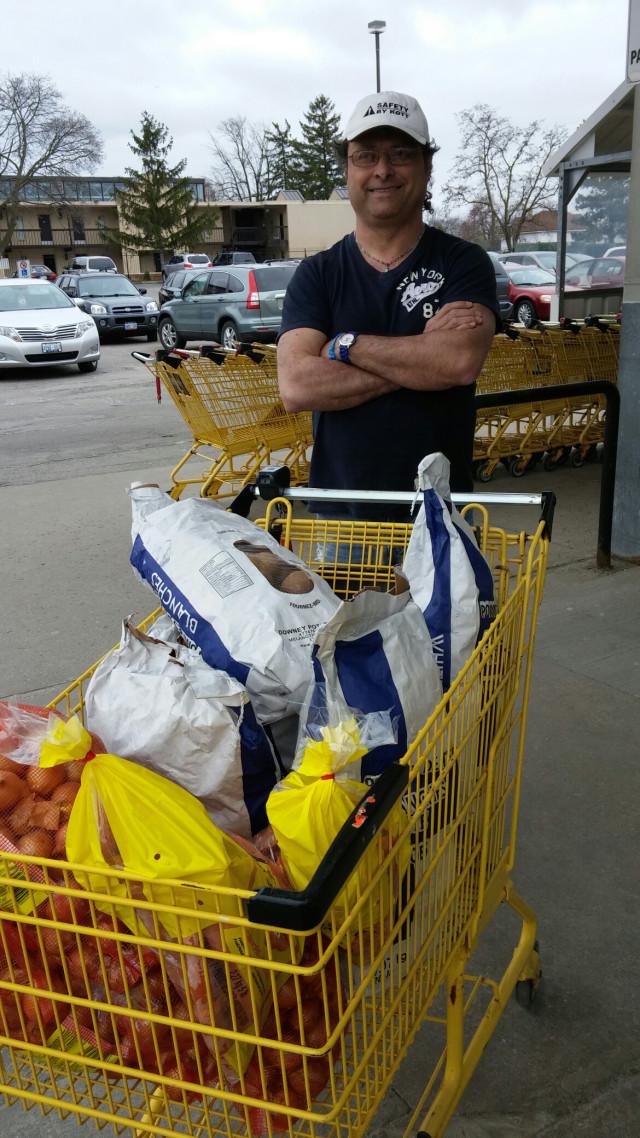 harold chisholm shopping for lindas cupboard potatoes carrots onions no frills niagara falls ontario canada